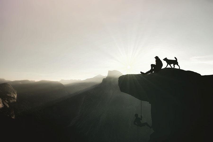 Klettern mit Hund